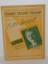 Tramp! Tramp! Tramp! Piano Solos Sheet Music Tablature Witmark & Sons 1950's Tab