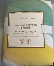 New Pottery Barn Teen Rainbow Chevron Standard Sham