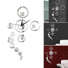 Modern Diy Fashion Wall Clock 3D Mirror Surface Art Sticker Decal Home Decor hfd