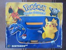 RARE Nintendo 64 (N64) Pokemon Pikachu Limited Edition PAL BOITE