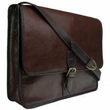 Harrison Buffalo Leather Laptop Messenger Bag by Hidesign