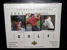 2001 Upper Deck Golf Box NEW Sealed MINT  PGA Tour TIGER WOODS Rookie? 24 PACKS!