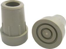 Krückenkapsel mit Stahleinlage, grau, 22mm