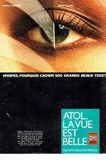 961c9a31be1383 Publicité advertising 119 1984 Opticiens Atol les verres Efi-Ari lunettes