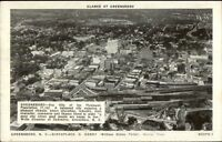 Greensboro NC Aerial View Postcard