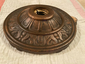 Attractive Art Deco Salvaged Cast Iron Floor Lamp Base Part, 5.9 Pounds, Free Sh