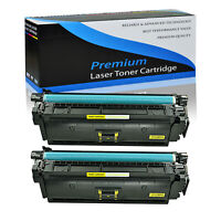 2 Pack Yellow Toner Cartridge CF362A For HP 508A LaserJet M552 M553 M577 M577dn