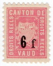 (I.B) Switzerland Revenue : Local Duty Stamp 6Fr (Vaud)