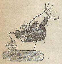 A4007 Bottiglia di Leida - Incisione - Stampa Antica del 1888