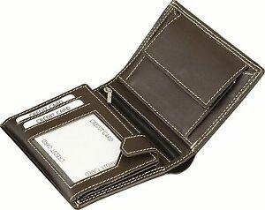 Herrenbörse Geldtasche Geldbörse aus Rind-Nappa Leder braun 12 x 9,5 c
