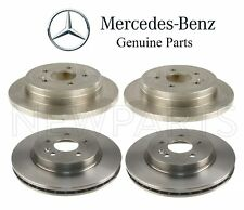 For Mercedes W163 ML320 ML350 Set of 2 Front & 2 Rear Brake Disc Rotors OES