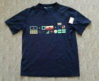 New REI Co-op Men's Short Sleeve Active Pursuits T-Shirt Size Medium Color Blue