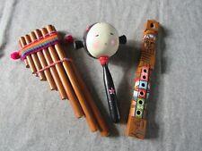 3 instruments de musique en bois pour enfant