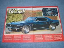 "1968  Camaro RS SS 350 Article ""Cop Shop Cruiser"" ----From 2003---"