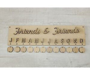 MDF DATES TO REMEMBER PLAQUE FAMILY BIRTHDAYS PERSONALISED WALL ART