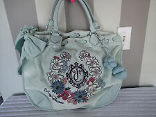 juicy couture velour velvet flor beverl bag handbag  purse,tote,shopper,satchel