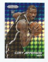 CORY JEFFERSON 2014-15 PRIZM RC ROOKIE BLUE GREEN WHITE MOSAIC REFRACTOR # 295