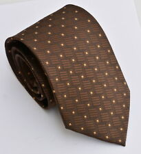 men's  brown with gold dots  woven neck tie