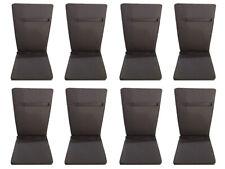 Poduszka na krzesła składane 5 pozycyjne kolor szary - 8 szt.