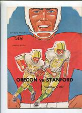 Stanford vs  Oregon   College Football Program Nov 4,1961   MBX66