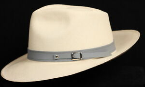Leather Hat band 90 - Grey- Men Ladies Sun Panama Hat fedora Replacement strap