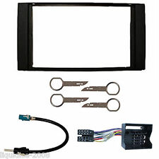 FORD FIESTA 2005 ONWARDS BLACK DOUBLE DIN FASCIA FACIA FITTING PACKAGE KIT