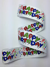 RIBBON with HAPPY BIRTHDAY BALLOONS, 1 Mtr, Gifts/Cards/Bows/Party/Birthday