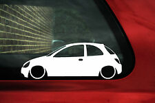 2x Lowered car outline stickers - for  Ford KA, SportKa low
