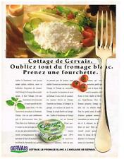 PUBLICITE ADVERTISING    1988   GERVAIS   COTTAGE   fromage blanc