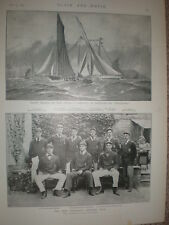 Printed Photo Yale University Athletic Club team with names 1894