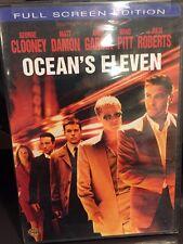 ,Ocean's Eleven  (DVD, 2007,FS,PG-13) George Clooney, Matt Damon, Brad Pitt/MfgS