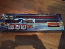 Skywalker Lightsaber Interactive Blue Lightsaber Electronic Lights 2002 Hasbro