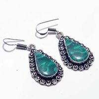 Malachite Ethnic Jewelry Handmade Earring BE-1227