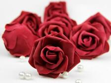 10X 50X Foam Roses Artificial Flower Heads Wedding Bouquet Party Home Decor DIY