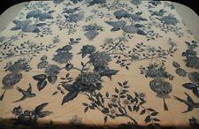 SHRUNKEN FLAW Williamsburg Waverly Lightfoot House Curtain Panel Fabric Blue