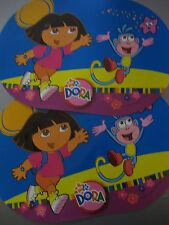 2 x Tischset Platzdeckchen oval 42x29 cm abwaschbar Kunststoff PVC f.Kinder Dora