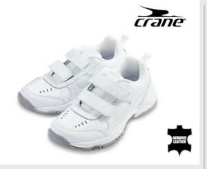 Boy Girl Size 11 Velcro New White Leather Runners Joggers Sandshoes School