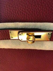 Hermes Birkin Bag Tasche Kelly Red Rot 35 Togo Leder Zubehör ROUGE GRENAT New
