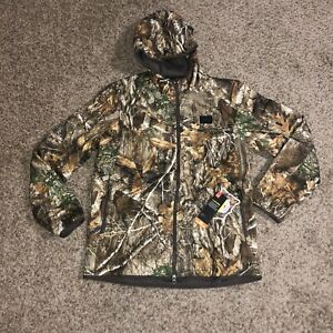 NEW Mens Under Armour UA Brow Tine Camo Jacket Real Tree 1355316-991 Size L