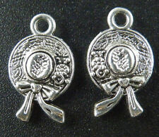 24 pcs tibetan silver a hat that goes with formal dress charms 43x36mm L-4754