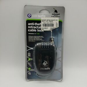 Pacsafe Retractasafe 250 - 4 Dial Retractable Cable Lock w/ Stainless Steel Wire