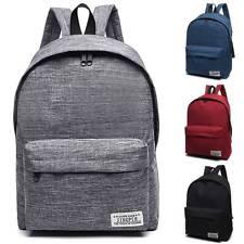 Unisex Mens Canvas Backpack Rucksack College Travel School Shoulder Bag Satchel