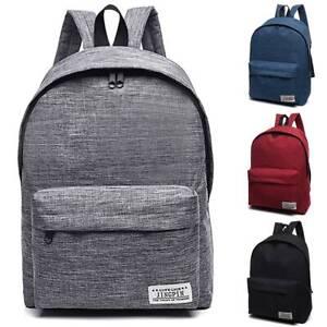 Men Lady Canvas Backpack Rucksack Work Travel Hiking Sport School Shoulder Bag