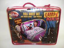 New CAMP ROCK Sheet SET sheets FULL cotton rich & deep pockets  Disney