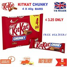 NEW KitKat Chunky Milk Chocolate Bars, 4 x 40g (160gm) Big Pack UK TOP SELLER