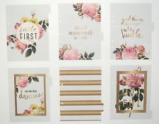 Heidi Swapp Large Memory Planner - Clear Dividers x6 Floral w Gold Foil
