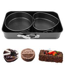 Set of 3 Non Stick Spring Form Baking Cake Pan Home Kitchen Set Tray Bakeware
