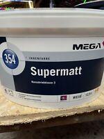 12,5 Liter Mega Supermatt 354 Farbton Siehe Offenes Gebinde Restposten