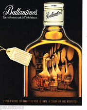 PUBLICITE ADVERTISING 065  2000 BALLANTINE'S whisky LES OIES BLANCHES     240615