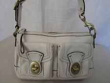 Genuine Coach Legacy double turn lock shoulder bag in off white